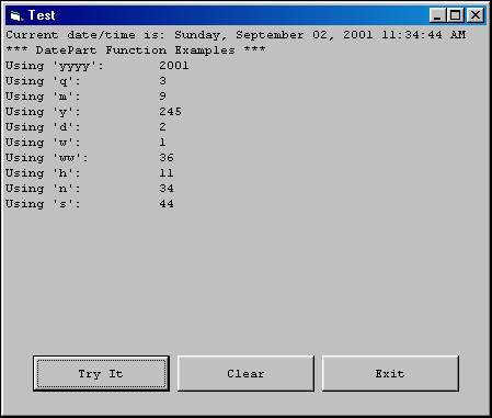 Date Time Functions In Visual Basic | Visual Basic 6 (VB6)