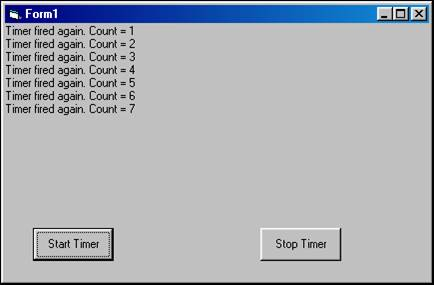 Understanding the timer control | Visual Basic 6 (VB6)