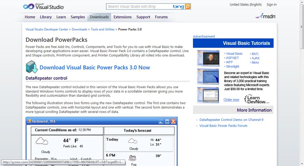Visual Basic Power Pack   Visual Basic 6 (VB6)